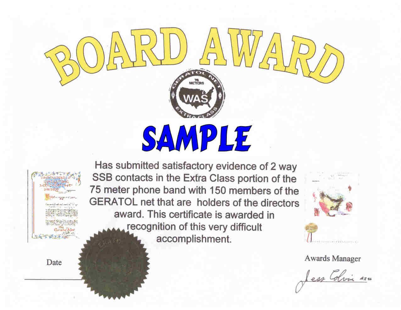 Board Award